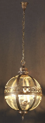 Emac Lawton Amalfi Pendant Light E27 Antique Bronze in 70cm or 85cm
