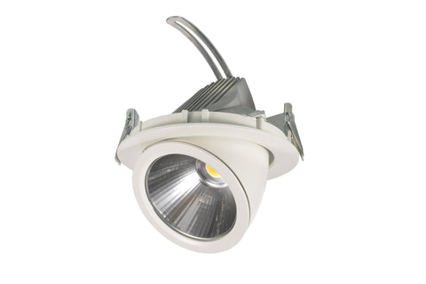 UGE LED Shop Light Adjustable Round 36W in White or Black 19cm