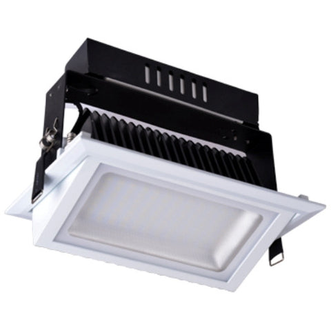 UGE LED Shop Light Adjustable Rectangle Black 38W in 5000K 23cm