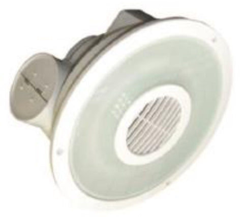 UGE Exhaust Fan Round w Fluorescent Light Silver in 29cm