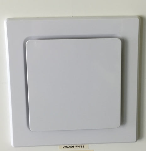 UGE Exhaust Fan Square in White or Stainless Steel