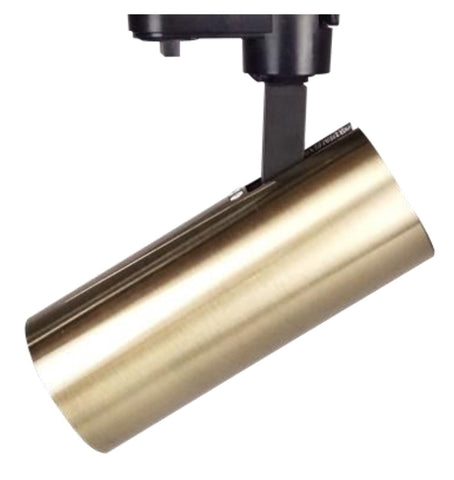 UGE LED Track Spot Light Dimmable 15W Satin Brass 16cm