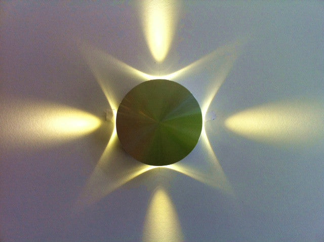 Uge Round Star Led Wall Light 4 Way 0 24w In 5000k 5cm