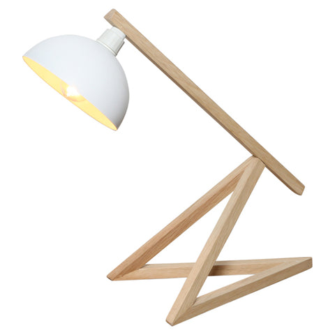 Oneworld Desk Lamp w White Shade in 43cm
