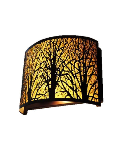 CLA Lighting Autumn Wall Light Curved Bronze w Amber E14 in 28cm