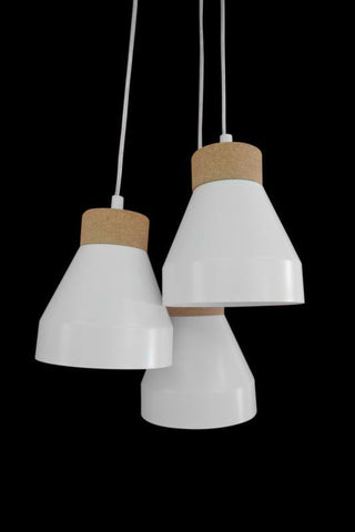 Rouge Living Aksel Pendant Light Black or White E27 in 32cm Set of 3