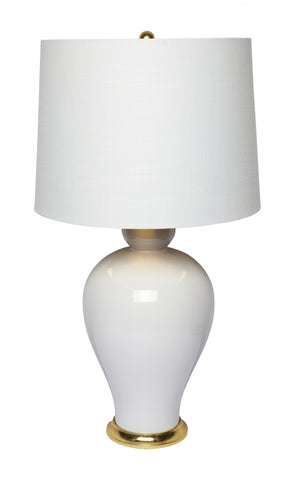 Cafe Lighting Carolina Table Lamp Blue or White B22 in 80cm