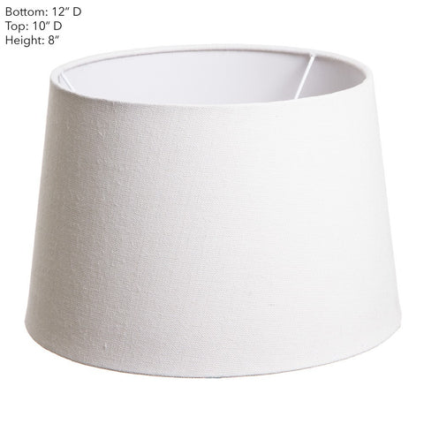 Emac Lawton Lamp Shade in Ivory or Natural 31cm