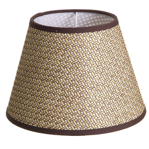 Emac Lawton Baske Weave Lamp Shade in Brown 25cm