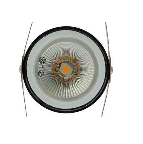 Domus Deka LED Inground Light Exterior Round Black 3W in 9cm