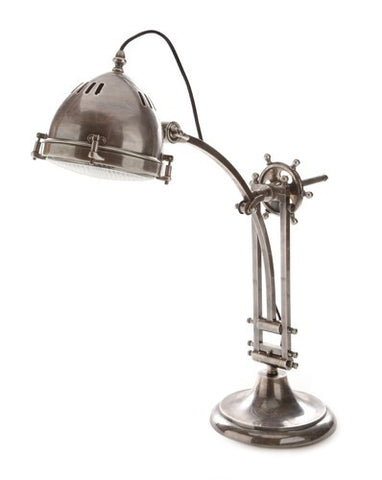 Emac Lawton Seabury Desk Lamp Antique Silver E27 in 70cm