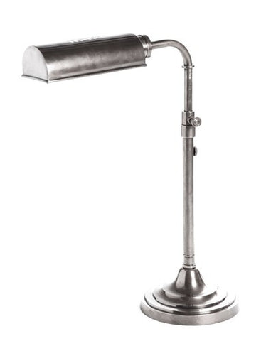 Emac Lawton Brooklyn Desk Lamp Silver or Brass E27 in 57cm