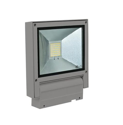 Domus Flash LED Flood Light Exterior 20W in Silver or White 23cm