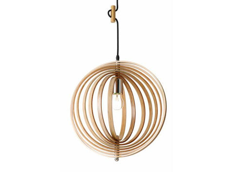 Rouge Living Illusion Pendant Light Natural w Glass in 40cm