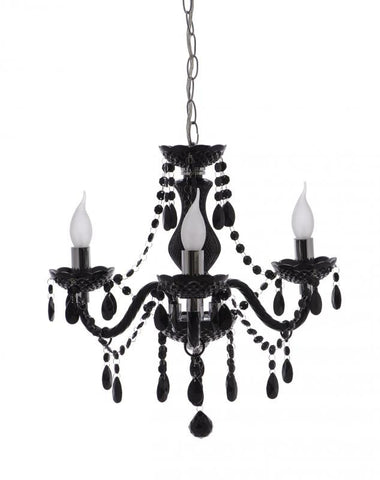 Rouge Living Ita Chandelier Light 3 Arm Black or White in 48cm