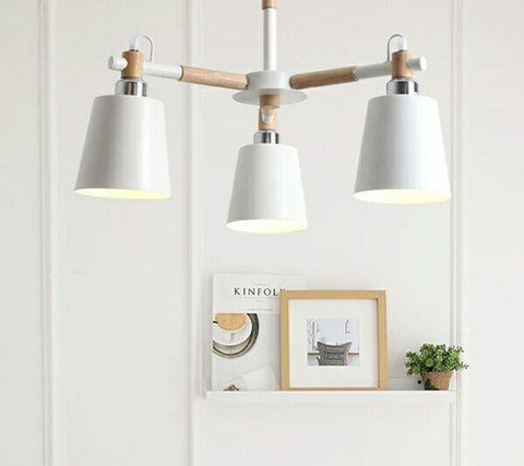 Rouge Living Kendrik Pendant Light 3 Arm in White or Black 52cm