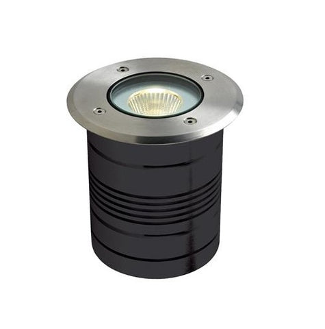 Domus Modula LED Inground Light Round Aluminium 9W in 13cm