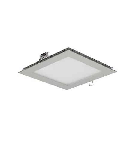 Domus LED Panel Light Square Silver 9W in 20cm