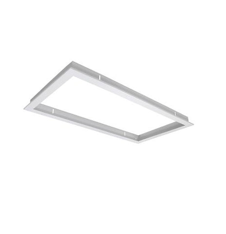 Domus Panel Trim Rectangular Satin White in 33cm