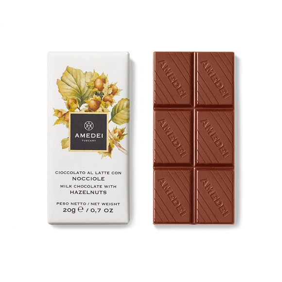 Amedei Milk Chocolate Bar with Hazelnuts 20g