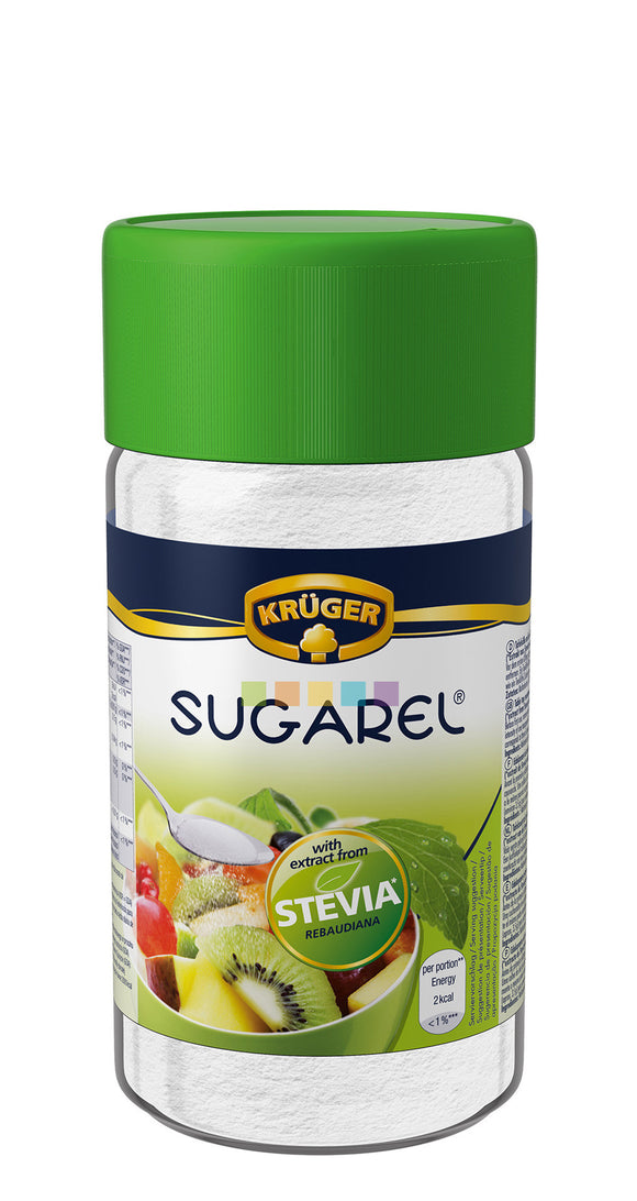 KRÜGER SUGAREL STEVIA SWEETENER POWDER 75GR