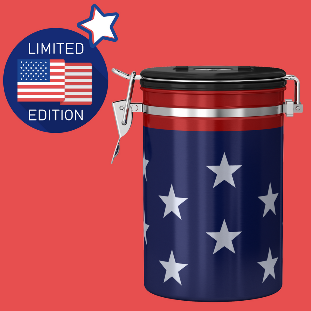 Stars and stripes canister celebrating 50 states of great (and mates)!