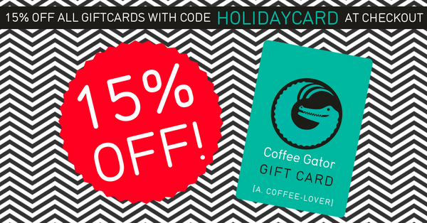 15% off Coffee Gator gift cards