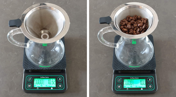 2. weigh the beans