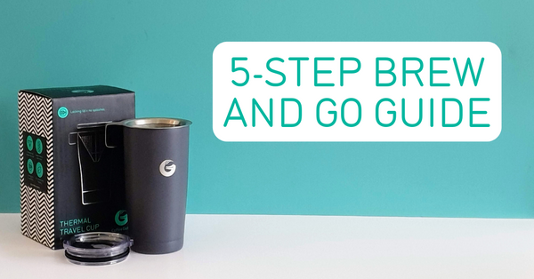 Coffee Gator 5-step brew and go guide