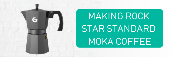 Coffee Gator guide to making rockstar standard moka espresso coffee
