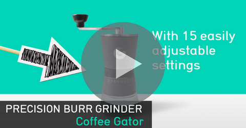 Coffee Gator manual precision burr grinder on YouTube