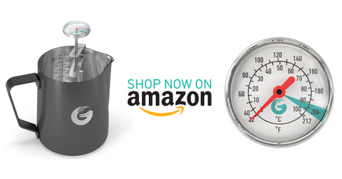 Coffee Gator milk frothing pitcher on Amazon