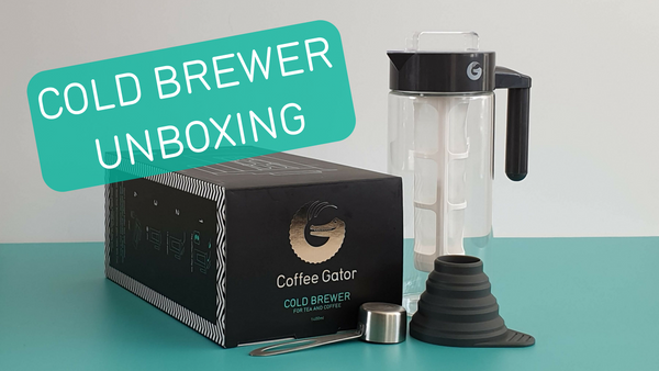 Unboxing the Coffee Gator cold brew tea and coffee kit