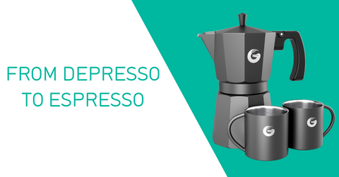 From depresso to espresso - Coffee Gator stovetop espresso maker on Amazon