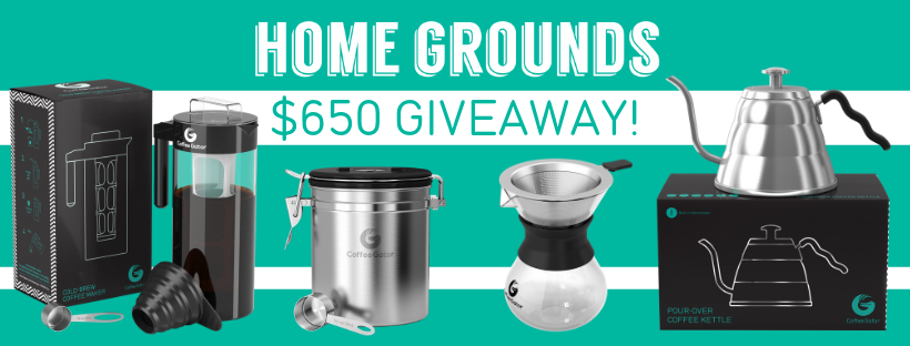 Homegrounds $650 Coffee Gator prize giveaway