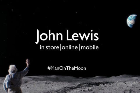 John Lewis Man in the Moon Christmas advert still