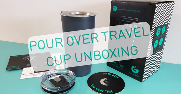 Unboxing the Coffee Gator pour over brewing travel cup
