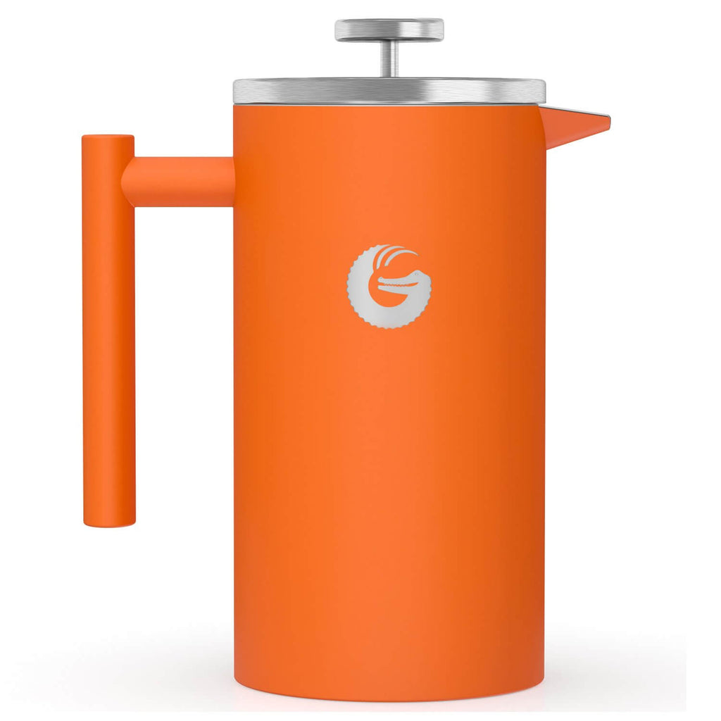 Vacuum Insulated French Press Coffee Maker - 34floz - Orange