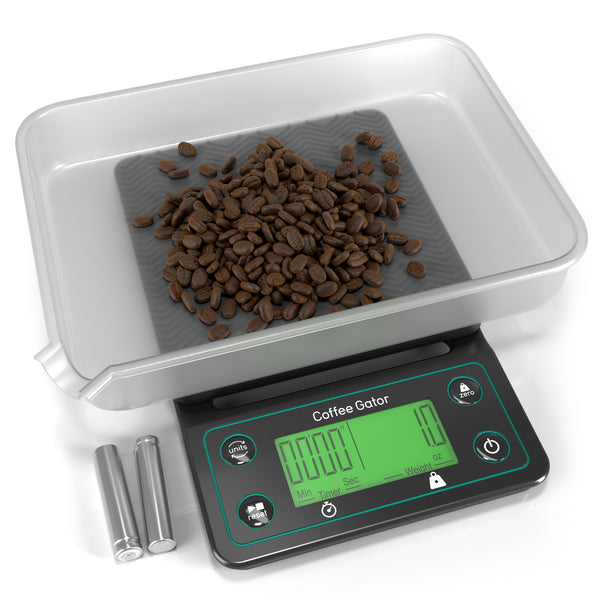 Coffee Gator Digital Brewing Scale - Multifunction, Timing, Food and Kitchen use - Coffee Gator