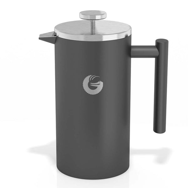French Press Coffee Maker - Thermal Insulated Coffee Brewer - 34 oz, Gray