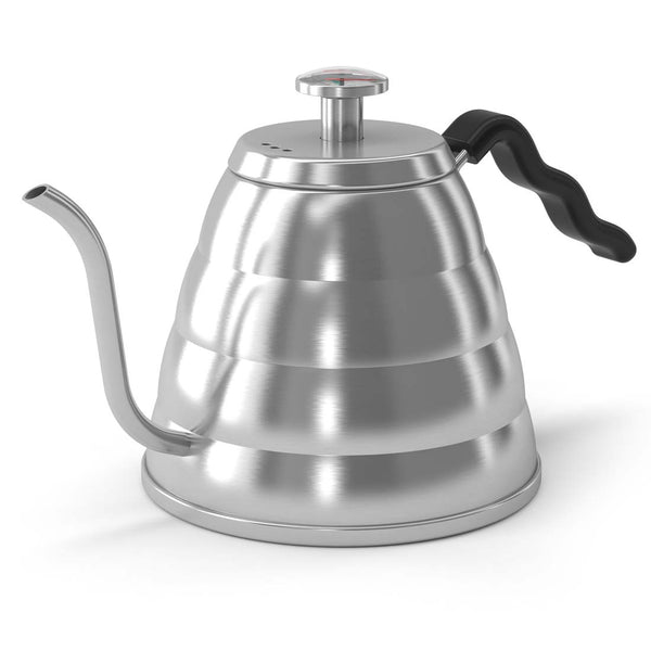 Coffee Brewing Kettle - Gooseneck Spout & Built-in Thermometer