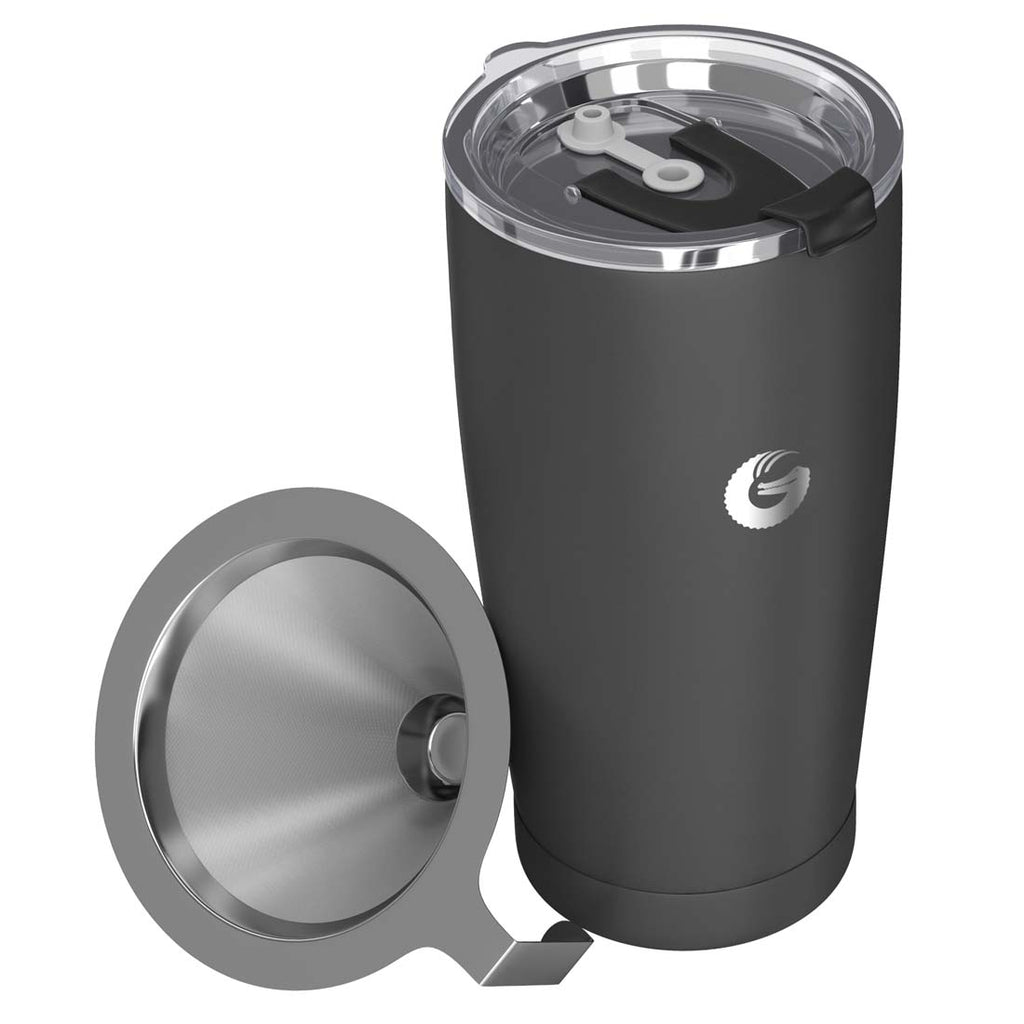 Pour Over Coffee Brewer Travel Mug - Gray