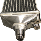 Fabtech - FTG Series Oil Cooler with 620 x 100 x 50mm PWR Core - CNC Billet Alloy end tanks with -10AN Outlets