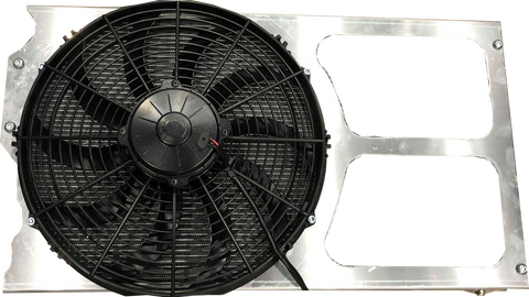 "Fabtech FTG Alloy EVO Fan Shroud with 14"" SPAL Hi flow Thermo Fan"