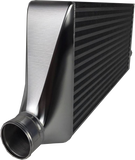 Fabtech - FTG Series Intercooler with 550 x 300 x 76mm HYPERTUNE Core - CNC Billet Alloy end tanks with 3 Inch Wiggins style Outlet