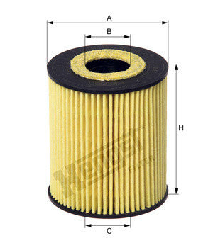 E211H01208- SKODA FABIA / Volkswagen POLO 1.2TDI OIL FILTER From HENGST GERMANY