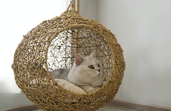 Cat Sleeping Bed Natural, Luxury Pet Bed - Grand Istanbul Bazaar