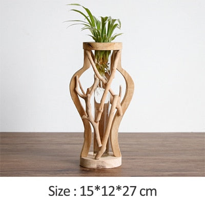 Handwork Wooden Vase Decoration - Grand Istanbul Bazaar
