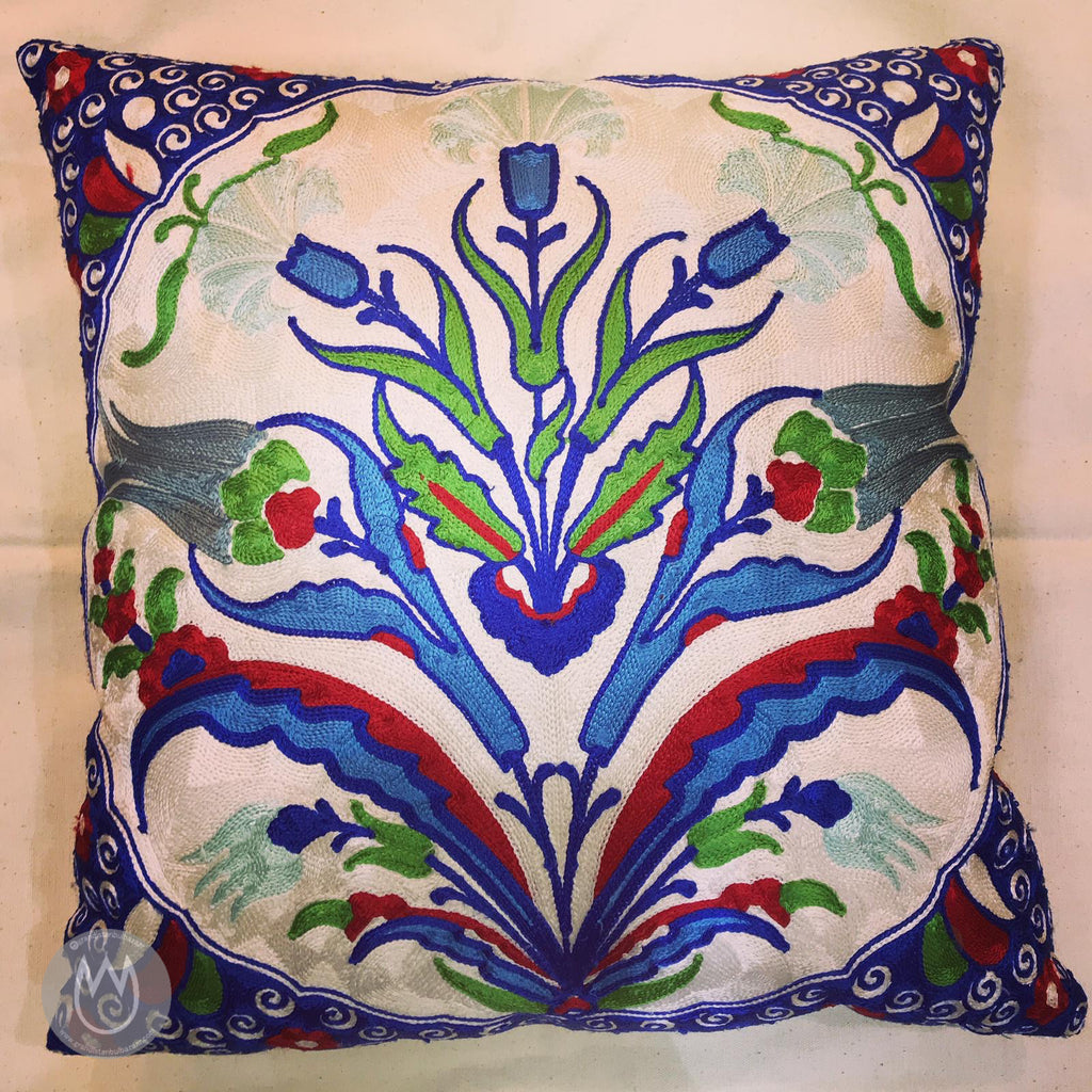 Silk PillowCase 💚 Almohada de Seda 43 - Grand Istanbul Bazaar