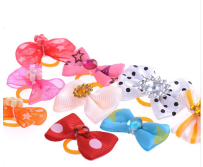 50 Piece Dog Hair Bow Set